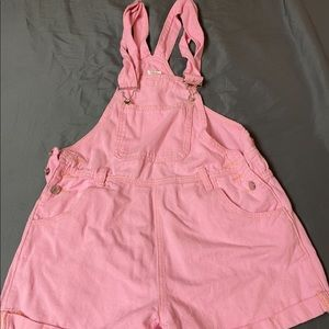 Pink shorts overalls- M